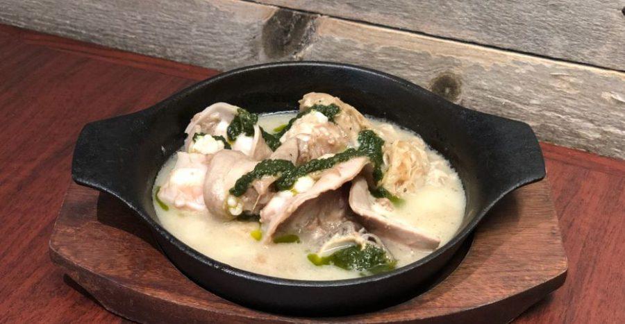 【今週の週替わりランチ:洋風塩もつ煮込み~バジルソース仕立て~(990円)】