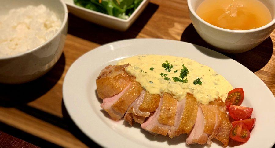 【今週の週替わりランチ:大山鶏のグリルチキン~自家製タルタルソース添え~(990円)】