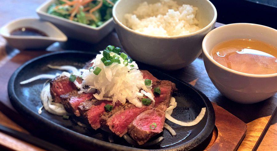 【今週の週替わりランチ:南国黒牛の赤身ステーキ ~和風おろしソース~(1,480円)】