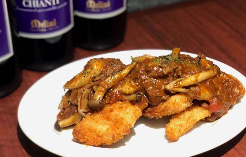 【Salt恵比寿の今週の週替わりランチ:総州古白鶏のチキンカツ~デミきのこソース~(990円)】