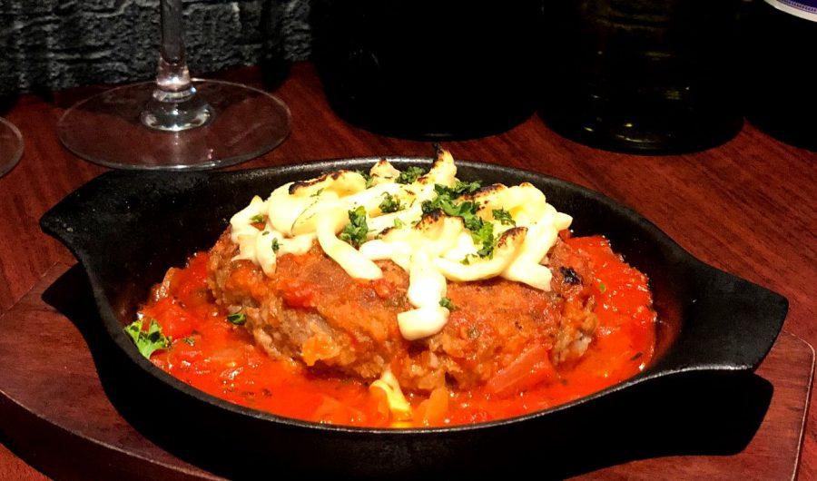 【Salt恵比寿の今週の週替わりランチ:Salt特製黒毛和牛ハンバーグ~トマトチーズソース~(990円)】