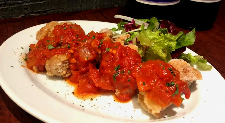 【Salt恵比寿の今週の週替わりランチ:チキンフリット~自家製トマトソース~(990円)】