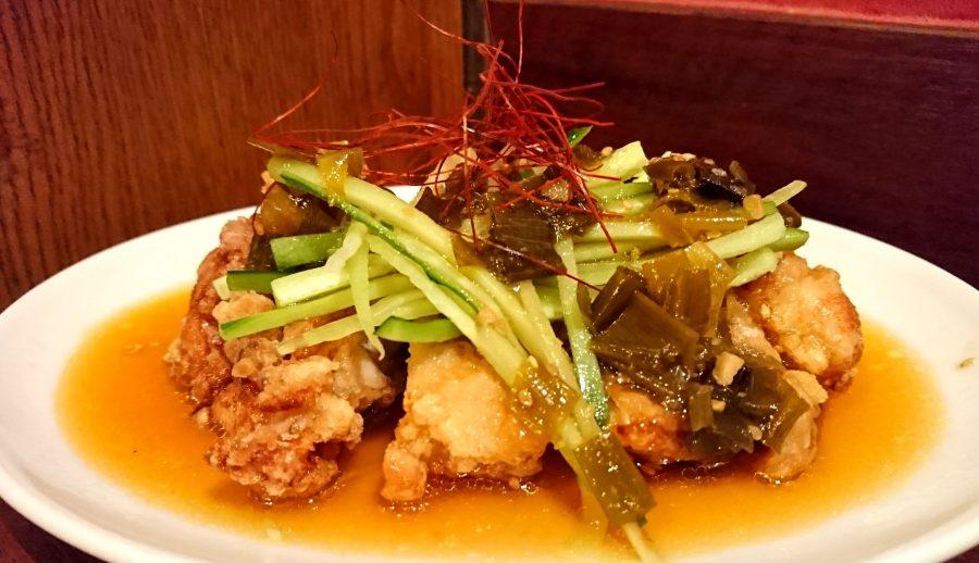 【今週の週替わりランチ:油淋鶏~サラダ仕立ての特製醤油ダレ~(950円)】