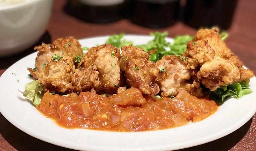 【Salt恵比寿の今週の週替わりランチ:大山鶏のチキンフリット~自家製アラビアータソース~(990円)】