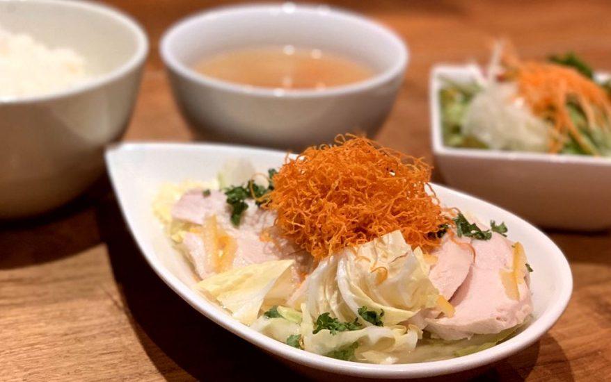 【Salt中目黒の今週の週替わりランチ:さつま純然鶏むね肉の蒸し鶏あん仕立て~柚子の香り~(990円)】