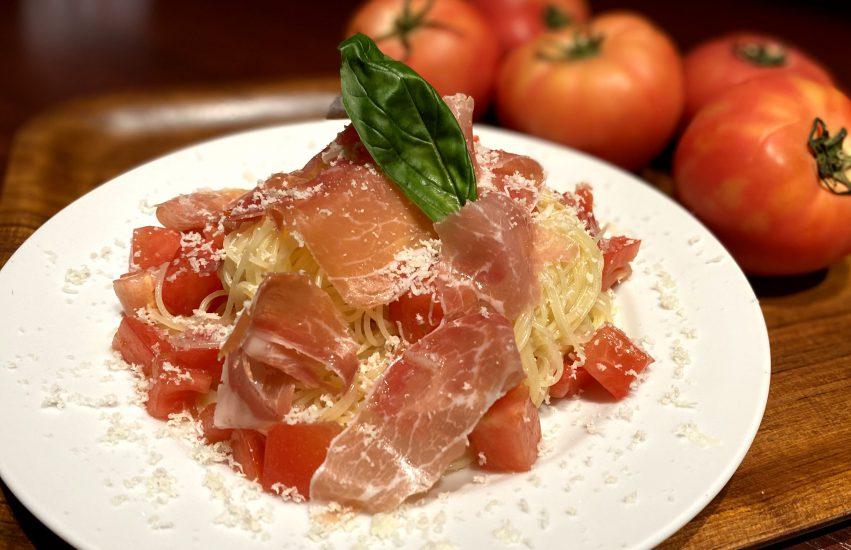 【Salt恵比寿の今週の週替わりランチ:生ハムとトマトのカッペリーニ(990円)】