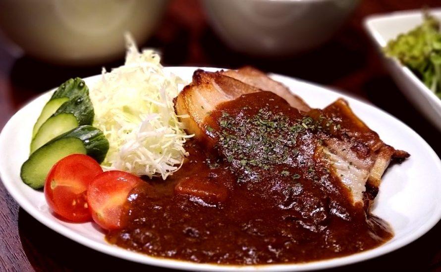 【今週の週替わりランチ:柔らかポークステーキ ~自家製デミグラスソース~(900円)】
