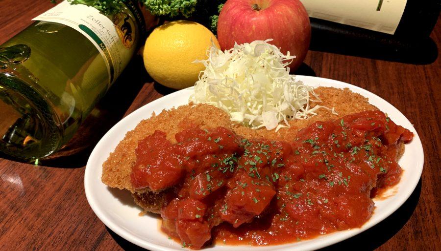 【今週の週替わりランチ:チキンカツ~特製濃厚トマトソース~(850円)】