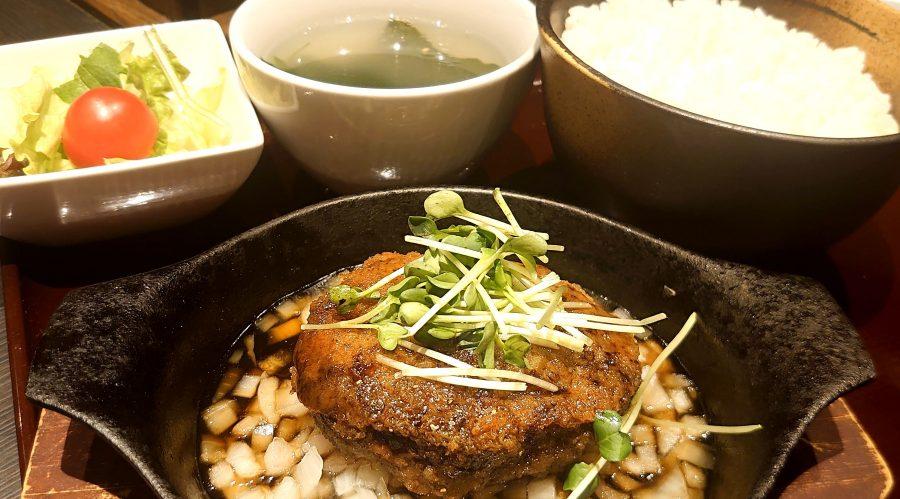 【BeefGarden恵比寿の今週の週替わりランチ:特製黒毛和牛ハンバーグ~照り焼きソース~(1,290円)】