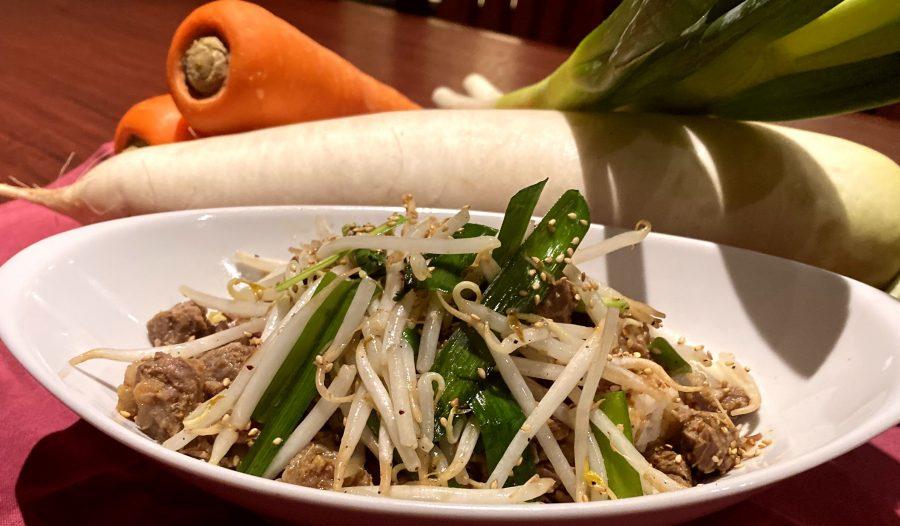 【Salt恵比寿の今週の週替わりランチ:たっぷり野菜のピリ辛ビーフボウル(990円)】