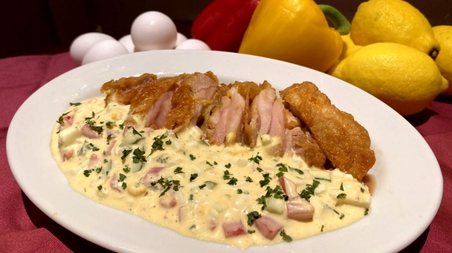 【Salt恵比寿の今週の週替わりランチ:鶏モモのチキン南蛮~ラビゴット風タルタルソース~(990円)】